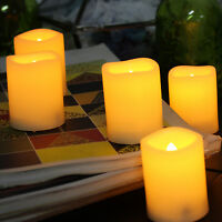 6 PCS Battery Operated Flameless Votive Candles with Timer 200+H Battery Life