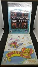 Hollywood Squares & Jelly Belly Balistic Beans (Nintendo Wii, 2010) New/Sealed