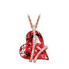 Anniversary Birthday Gift For Her Girls Girl Necklace Pendant Swarovski Ruby Red