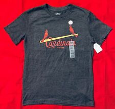 New MLB St. Louis Cardinals Boys Heather Gray Logo Size L (10/12)
