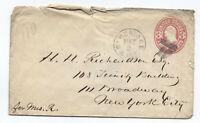 1860s Cambridge MA fancy shield cancel on 3 cent pink envelope [y3445]