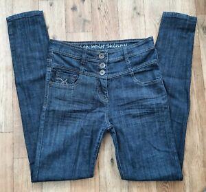 Ladies size 10 XL NEXT High Waist Skinny jeans Waist 28 long leg 33