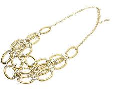 Señoras de Oro en capas Cadena Collar Nuevo Único declaración asombrosa de verano (st94)