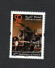 2014- Morocco- Maroc-50th ann. of National Railway,Steam Locomotive- Train-MNH**