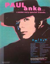 PAUL ANKA 1996 promo ADVERT AMIGOS andy warhol