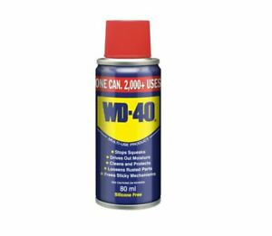 WD40 80ml Multi-Use Lubricant Spray to Clean Lubricate Protect Care Cars Bikes