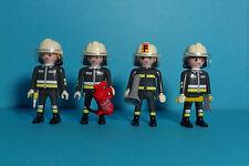 Playmobil Rescue/Rettung~ 3 Feuerwehrmänner & 1 Feuerwehrfrau / Firefighters