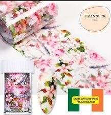 Flower Pretty 1 metre Nail Art Transfer Foil Stickers Wraps Shellac Acrylic