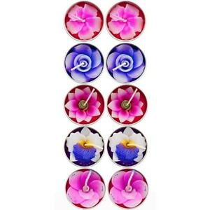 Box of 10 Lotus Flower Shaped Tealight Candles Handmade in Thailand