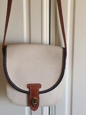 FOSSIL leather and canvas BAG - small - crossbody