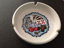 New listing Vintage Las Vegas Ceramic Ashtray 3 cigarette rests Cards and Dice
