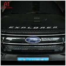 US SHIP! CHROME Hood Emblem Decal Sticker Letter Fits 11-15 Ford Explorer Sport