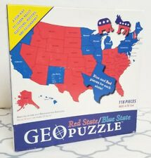 Geo Puzzle Red/Blue State Election Democrat Republican Party Create Your Own 118