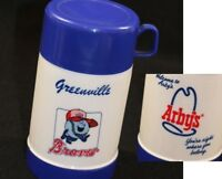 RARE Atlanta Braves Minor Greenville, SC Baseball Mascot ARBY's Thermos Souvenir