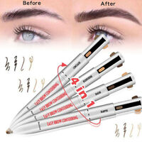 4 in1 Easy to Wear Eyebrow Long-lasting Highlighting & Defining Pen Contour Brow