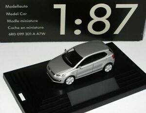 VERY RARE VW POLO 6R V TDI 2009 5 DOOR REFLEX SILVER 1:87 HERPA (DEALER MODEL)