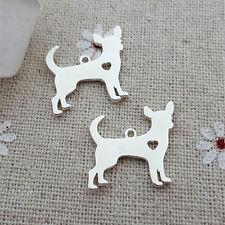 20pcs Silver Chihuahua Dog Charm Pendant Animal charms DIY Jewelry supplies