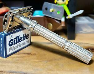 1963 Gillette Slim Adjustable I-3 vintage Safety Razor 5 Gillette Platinum tto