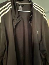 Authentic Adidas Vintage BLACK w/ WHITE 90's FullZip Track Jacket 4XL Big & Tall