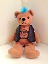 Hard Rock Cafe Bear Plush Animal Dallas TX 8 inch Rock Toy Punk Vest Mohawk