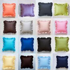 Elegant Hem Ruffle Throw Pillow Case Throw Cushion Covers Sham Cover Home Decor