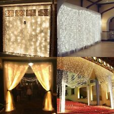 300/600 Led UK Plug Curtain Fairy Lights Wedding Indoor Christmas Xmas Party
