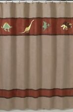 DINOSAUR DINO SUEDE BROWN RED BOYS BATH FABRIC SHOWER CURTAIN SWEET JOJO DESIGNS