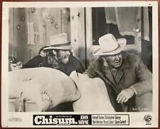 John Wayne Ben Johnson Chisum 1970 Western Org Movie Photo 385