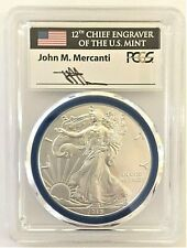 2015-W MINT ENGRAVER BURNISHED SILVER EAGLE-PCGS SP70-MERCANTI-POPULATION 165!!!