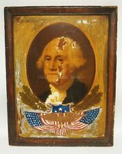 ANTIQUE PRINT AND PAINTING ON TIN OF GEORGE WASHINGTON. 20 1/2 X 26 ... Lot 1320