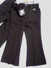 2 X Girls Black Teflon Easy Iron Adj Waist School Trousers 4 yr