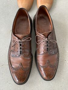 Vintage 60's Wright Arch Preserver Shoes 11C Brown Full Wingtip Brogues Union M