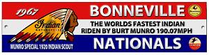 BURT MUNRO BONNEVILLE FASTEST INDIAN 1967 STICKER DECAL