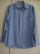 DAKS Jermyn Street blue long-sleeved cotton shirt, size 38 cm / 15""
