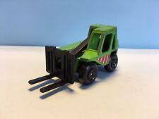 Diecast Matchbox Fork Lift Truck Green Wear & Tear Good Condition