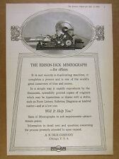 1924 Edison-Dick Mimeograph Duplicating Machine photo AB Dick vintage print Ad