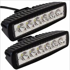 "2 x 18W 6"" Spot Cree Led Light Work Bar Boat Car Truck Lamp SUV UTE ATV offroad"