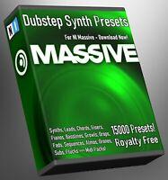 Dubstep 15,000 NI Massive Synth Presets - LOGIC ABLETON FL STUDIO Cubase Logic