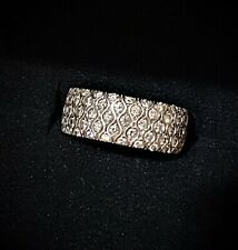 1.82 14K Pave Diamond Band VS1-2 G-H Size 6.75 Weighs 7.9 Gr. Missing 1pt Stone