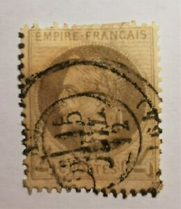 FRANCE TYPE EMPIRE 4c N° 27(TB-1432-2) AVEC CAD Depart 64 cote 70 € avec Oblit