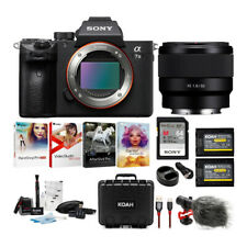Sony a7 III Full Frame Mirrorless Camera with 50mm f/1.8 Lens Bundle