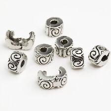 Women Clip Lock Beads Water Ripple Stopper Bead Fit Bracelets & Bangles DIY A*