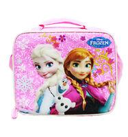 Disney Frozen Elsa and Anna Light Pink Girls Insulated Lunch Bag & Box for Kids