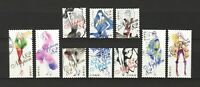 JAPAN 2017 FASHION ILLUSTRATION COMP. SET OF 10 STAMPS IN FINE USED CONDITION