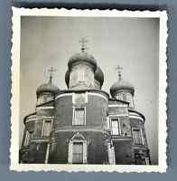 URSS, Eglise Russe  Vintage silver print. Vintage Russia.  Tirage argentique