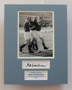 BERT TRAUTMANN Manchester City HAND SIGNED Autograph Photo Display COA Proof