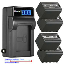 Kastar Battery LCD Wall Charger for AG-VBR59 AG-B23 Panasonic AG-DVX200PB Camera