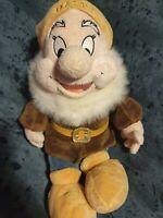 "Disney Store 'Happy' 12"" Plush Snow White & The Seven Dwarfs Soft Toy Beanie"