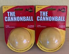Lot of 2 Cannonball Weighted Softball Warmup Strengthening Training Therapy Ball
