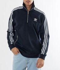 LARGE adidas Originals MEN'S Regular FIT CLASSIC HALF ZIP TRACK PULLOVER  1AVAL